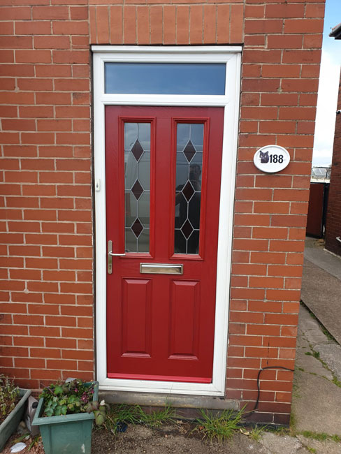 Warmglaze red composite door